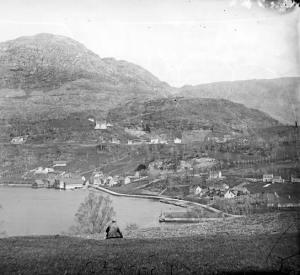 Utsikt fra Kronstad i 1860-årene. Nederst til venstre skimtes Nedre Møllendal gård. Foto: Knud Knudsen. Billedsamlingen UBB.  (kat.sign.UBB-KK-NS-1193.)