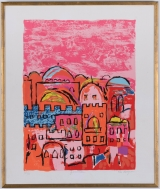"<h5>""Jerusalem"" by Ella Raayoni (1900-1993)</h5><p>19"" x 23""; Serigraph on paper BMAS 1071</p>"