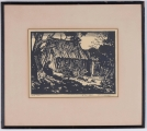 "<h5>""Poor Land"" by Howard McCormick (1973?)</h5><p>Approx. 9""x12""; Relief print on paper BMAS 1094</p>"