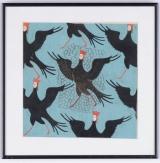"<h5>""Wallpaper Birdueaman"" by Tatiana Sedlar (N/D)</h5><p>Approx. 9""x9""; Gouache on paper BMAS 1051</p>"