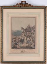 """<h5>""""Le Menuet De La Maroee"""" after Philibert-Louis Debucourt (N/D)</h5><p>Approx. 11""""x14""""; Colored engraving BMAS 1005</p>"""