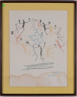 "<h5>""Dance of Youth"" after Pablo Picasso (N/D)</h5><p>Approx. 19""x26""; Mechanical print BMAS 1066</p>"