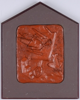 "<h5>""Autobiography of an Unknown Artist"" by William B. Hogan (c. 1985)</h5><p>Approx. 19""x25""; Terra cotta bas relief BMAS 1190</p>"