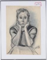 "<h5>""Portrait"" by Unknown (N/D)</h5><p>Approx. 19""x26""; Pastel on paper BMAS 1046</p>"