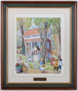 "<h5>""Nagle House"" by Patricia Sprouls (1976)</h5><p>Approx. 16""x20""; Watercolor on paper BMAS 1018</p>"