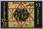 "<h5>""Babiy Yar"" by Samuel Kaplan (1998)</h5><p>Approx. 44""x49""; Tempera on board BMAS 1149</p>"