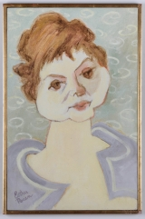 "<h5>""Matilde"" by Esther Yovits Rosen (1941)</h5><p>Approx. 22""x44""; Oil on canvas BMAS 1044</p>"