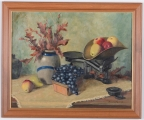 "<h5>""Untitled [Fruit/Vase/Scale]"" by Anita Friend (N/D) </h5><p>Approx. 25""x33""; Oil on canvas BMAS 1133</p>"