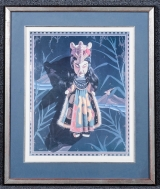 "<h5>""Untitled [Japanese Doll]"" by Gary T. Gibo (N/D)</h5><p>Approx. 25""x30""; Mechanical print BMAS 9156</p>"