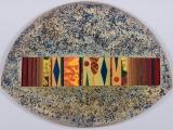 "<h5>""Collective Subconscious"" by Castiblanco [?] (1992)</h5><p>Approx. 38""x54""; Mixed media BMAS 1201</p>"
