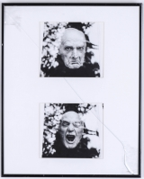 "<h5>""Untitled [Yelling Diptych]"" by Unknown (N/D)</h5><p>Approx. 21″x24″; Black and white photograph BMAS N/N</p>"