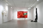 <h5>Integrated Negative Space Solo exhibition at 55 Mercer Gallery</h5><p>Collected mixed materials and hardware </p>