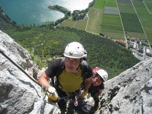 steiler Rino Pisetta Klettersteig