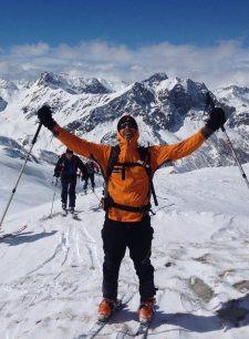 Skitouren Valmaira / Gipfelsieg Punta Tempesta