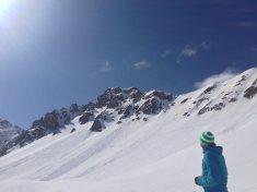Skitouren Valmaira / Blick zurück zum Monte Manse
