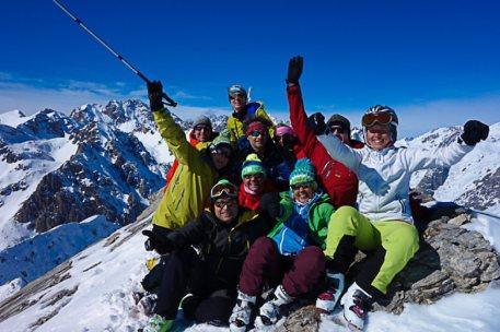 Skitouren Valle Maira / Abfahrt nach Saretto