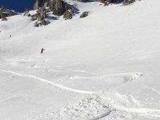 Valle Maira Abfahrt oberhalb von Saretto