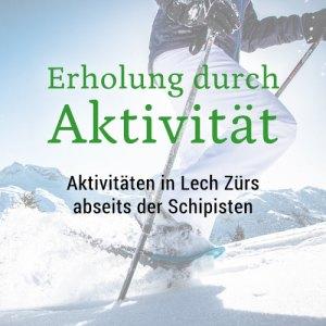 Aktivität im Winter abseits der Piste Bergland Appartements Lech Arlberg