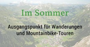 Lage der Bergland Appartements im Sommer - Direkt an Wanderwegen in Lech am Arlberg