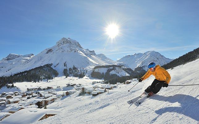 Lech Zuers Ski Arlberg - Schigenuss auf der weiten Sonnen-Skipiste Schlegelkopf - Bergland Appartements