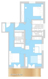 floor plan holiday apartment 'Gemswurz'