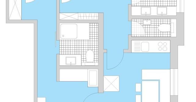 Grundrissdarstellung Appartement Ferienwohnung für max 6 Personen Gemswurz - Direkt an der Skipiste in Lech am Arlberg