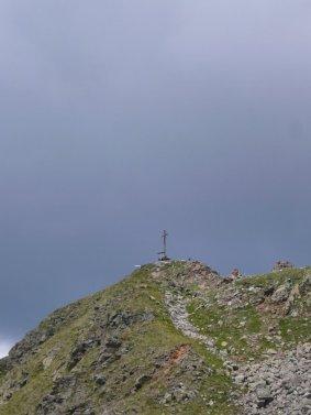Beim Abstieg von der Kassianspitze Blick zurück