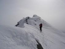Der Grat vom Gipfel weg war eher rutschig