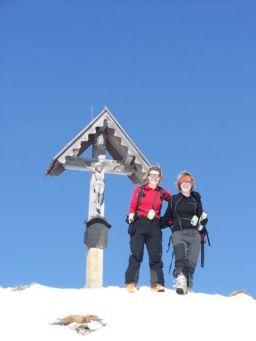 Die Mädls am Gipfel