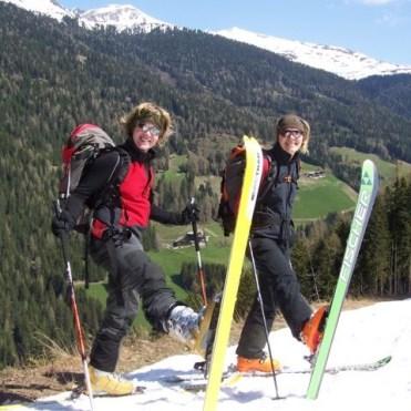 Neue Ski und wenig Schnee