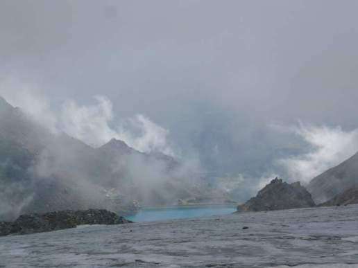 Auf dem Gletscher, im Hintergrund der Grünsee