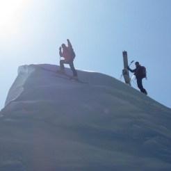 Ich bin fast am Gipfel