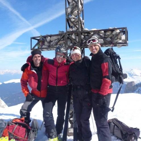 Gipfelfoto: Günther, ich, Evelyn, Joachim