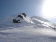 Super harter Schnee unter dem Gipfel