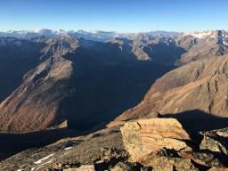 Blick hinab von der Hohen Wart 3400m