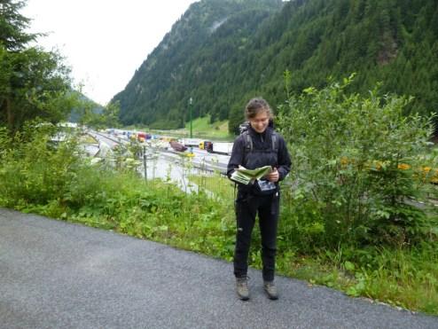 Wegsuche am idyllischen Brenner