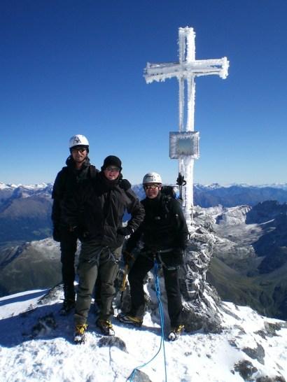 Gipfelbild mit Roli, Florian und Stefan