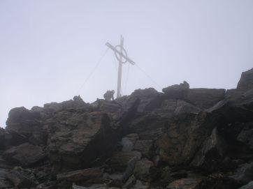 Im Nebel am Gipfel