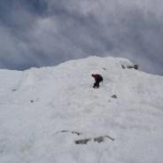 Joe beim Abstieg vom Gipfel