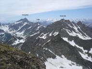 Die angrenzenden Berge, vom Röteck aus fotografiert