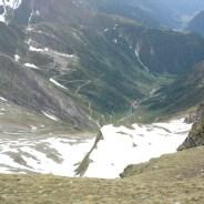 Blick zum Brenninger Biwak und dem Weg zur Valsalm