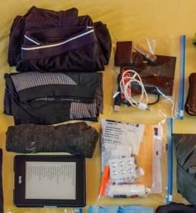 leichter Wanderrucksack packen