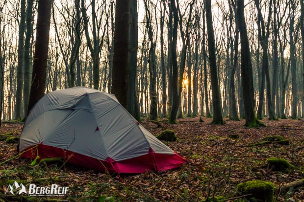 Wildcampen Wild zelten Wandern in der Eifel