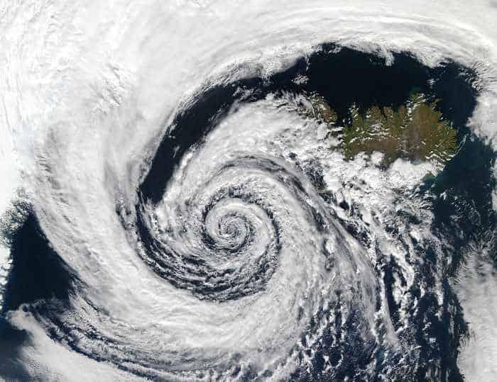 Wetterkunde Tiefdruckgebiet Island
