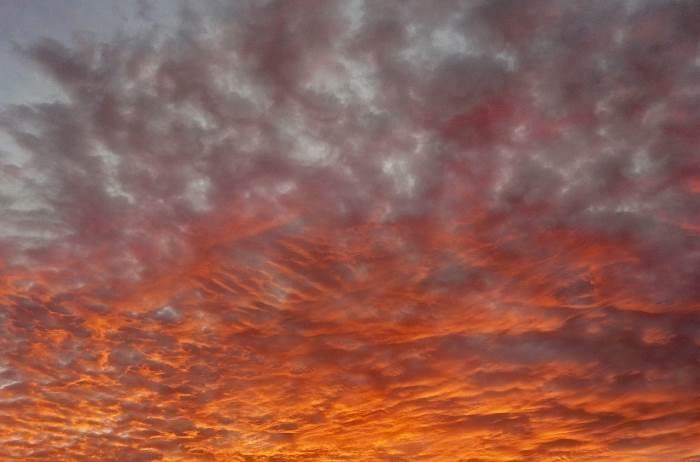 Wetterkunde flammende Morgenrot