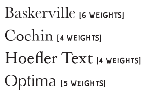 baskerville, cochin, hoefler text, optima, fonts available, lion, snow leopard