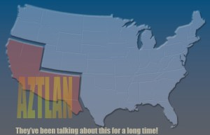 A map showing what radical Mexicans believe is theirs