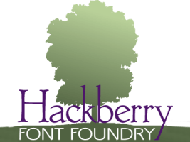 Hackberry font packages available on this site