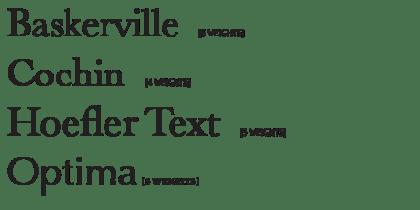 OSX Fonts