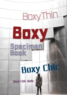 Boxy squared sans family with a light look